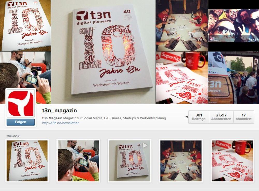 Alles fürs Image: BILD, t3n und Buzzfeed bei #Instagram (1/6)